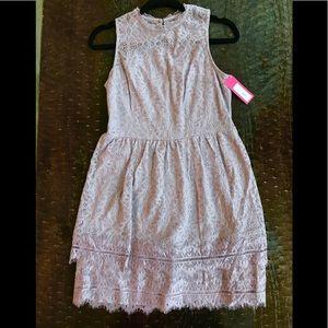 Soft lilac/mauve lace dress